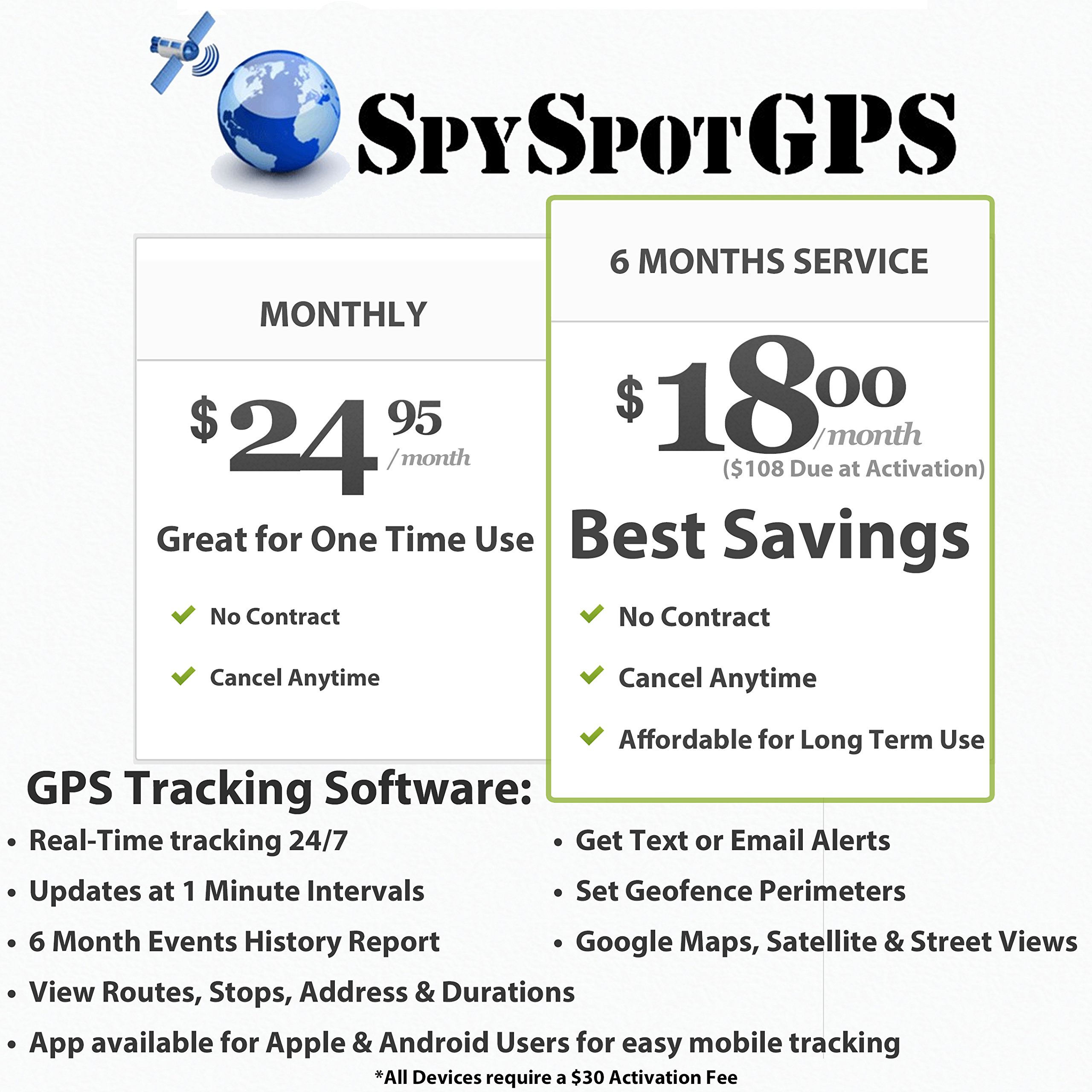 Spy Spot 3G Real Time Mini Portable GPS Tracker GPS Tracking