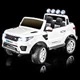 SPORTrax Land Rover Discovery Style Ride On Car, Battery Powered, Remote Control, w/FREE MP3 Player - White