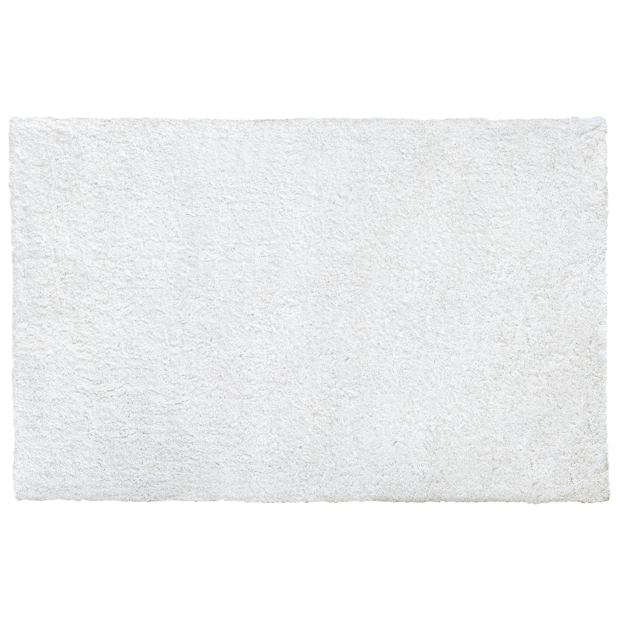 Little Love by NoJo Shag Nursery Rug, Solid White, 3'9'' x 5'9''