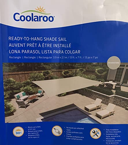 Shade Sail Coolaroo 13 x 7 Rectangle 13 x 7 , Riverstone