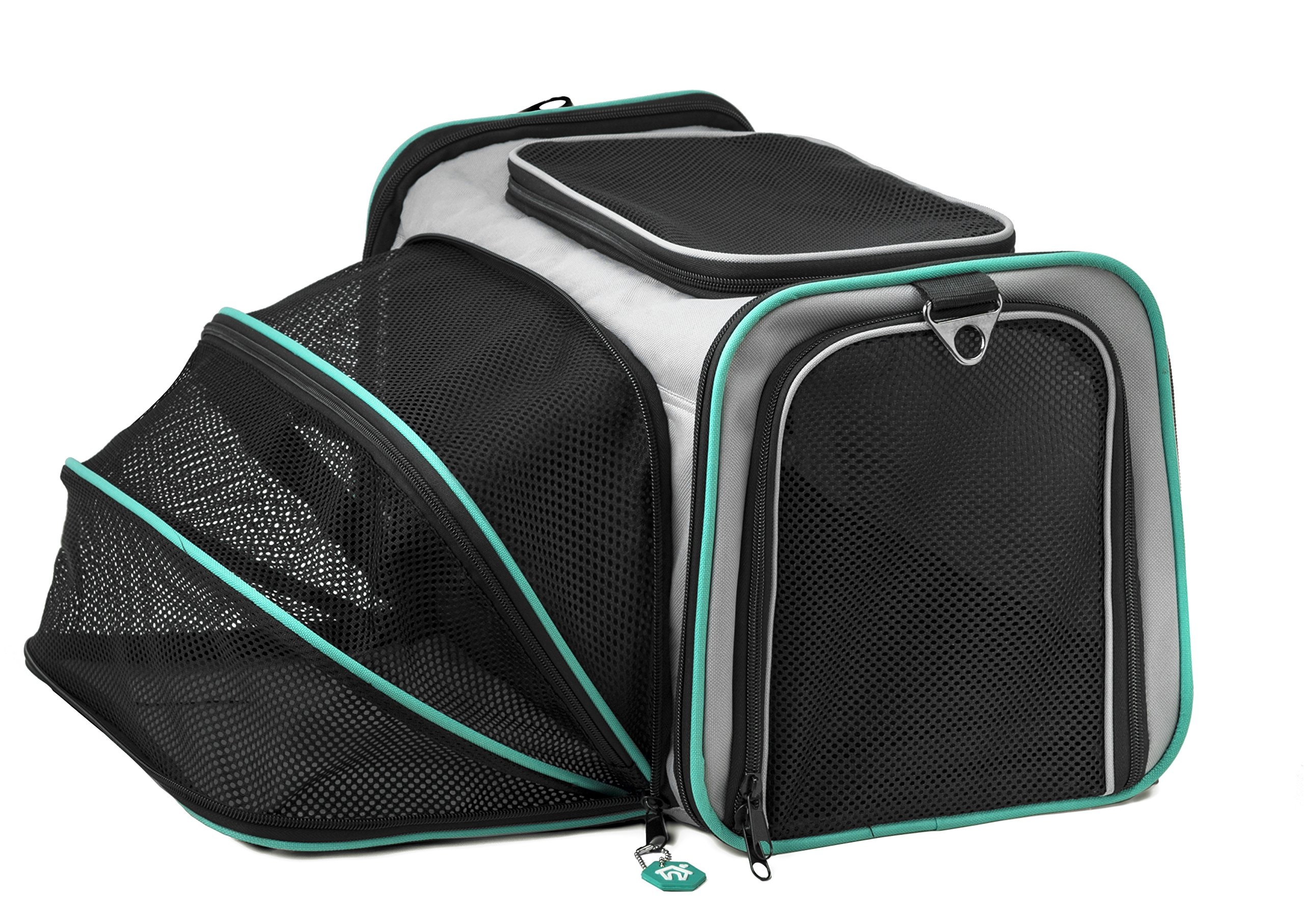 Pawdle Expandable and Foldable Pet Carrier Domestic Airline Approved (Heather Gray) by Pawdle (Image #2)