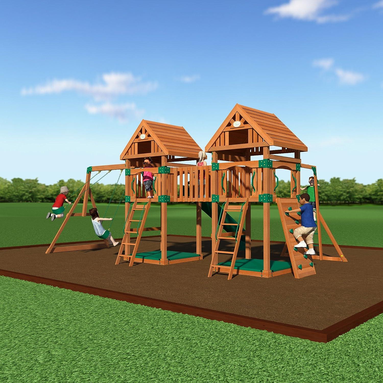 amazon com backyard discovery kings peak all cedar wood playset