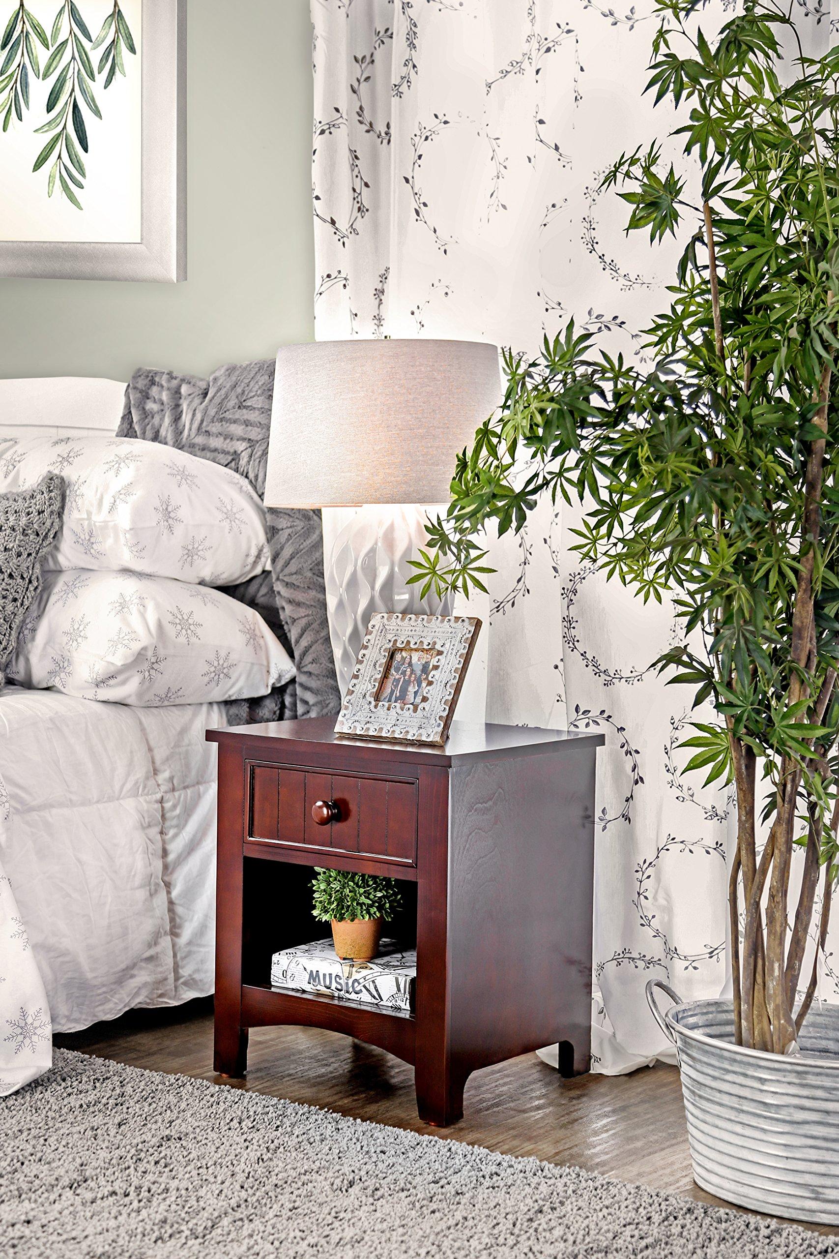 Furniture of America Alaia Dark Walnut Nightstand by Furniture of America