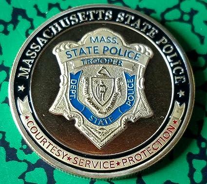 Massachusetts State Police Challenge Art Coin