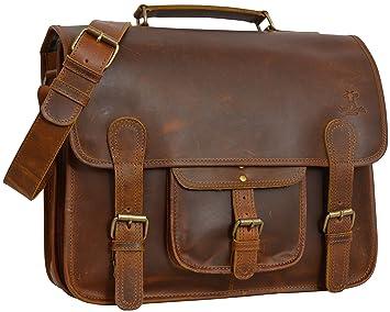 "e12396e981c3b Gusti Leder studio ""Murray"" Laptoptasche 17 quot  Ledertasche robuste  Umhängetasche Messenger Tasche Echtes Leder"