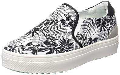 Wrangler Sheena Slip on, Damen Sneakers, Schwarz (357 Black/Tropical), 37 EU