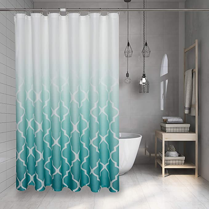 Details about  /Moroccan Shower Curtain Aged Gate Geometric Print for Bathroom