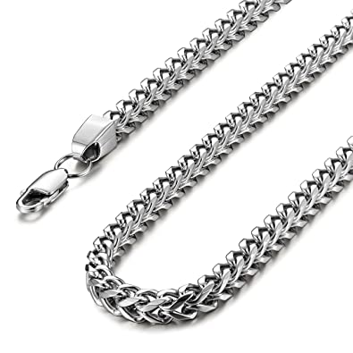 Amazon.com: besteel Acero Inoxidable 6 Mm Mens Curb collar ...