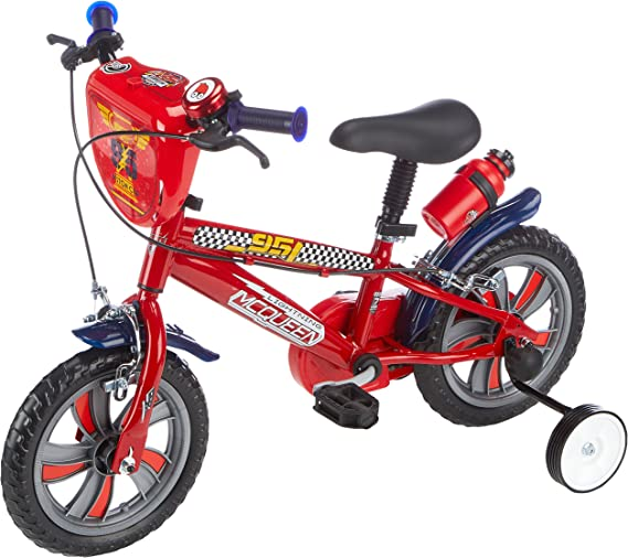 Denver Bike Disney Cars - Bicicleta de Rayo Mcqueen con ruedines: Amazon.es: Juguetes y juegos