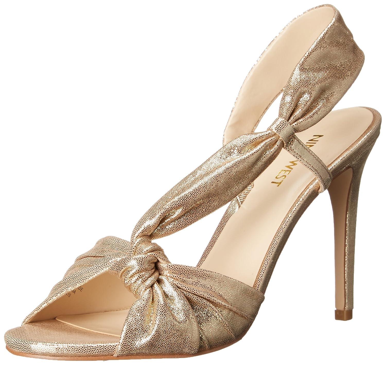Amazon.com | Nine West Women's Ultana Metallic Heeled Sandal | Heeled  Sandals