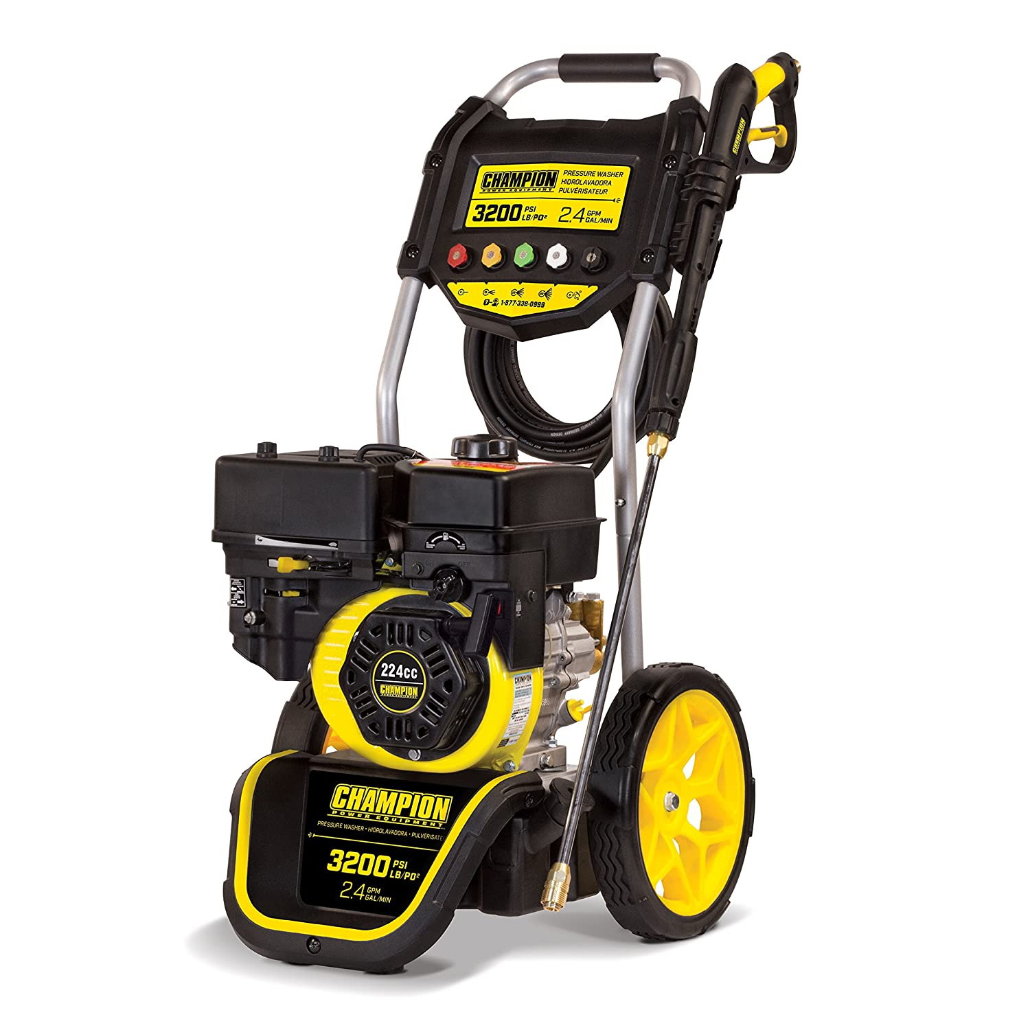 Amazon.com : Champion 3200-PSI 2.4-GPM Dolly-Style Gas Pressure Washer :  Garden & Outdoor