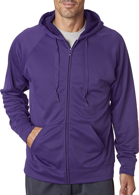 Violet - Violet intense US grand Jerzees pour Homme 6 G Sport Tech en Polaire zippé Hood (Pf93mr)