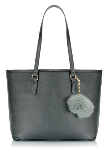 4477dfea5f Amazon.com  Scarleton Grandeur Tote Bag H203201 - Black  Shoes