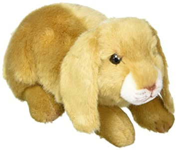 9b00b95e0fde Image Unavailable. Image not available for. Color  DEMDACO Doleful Small Lop  Ear Bunny Light Brown Children s Plush Stuffed Animal Toy