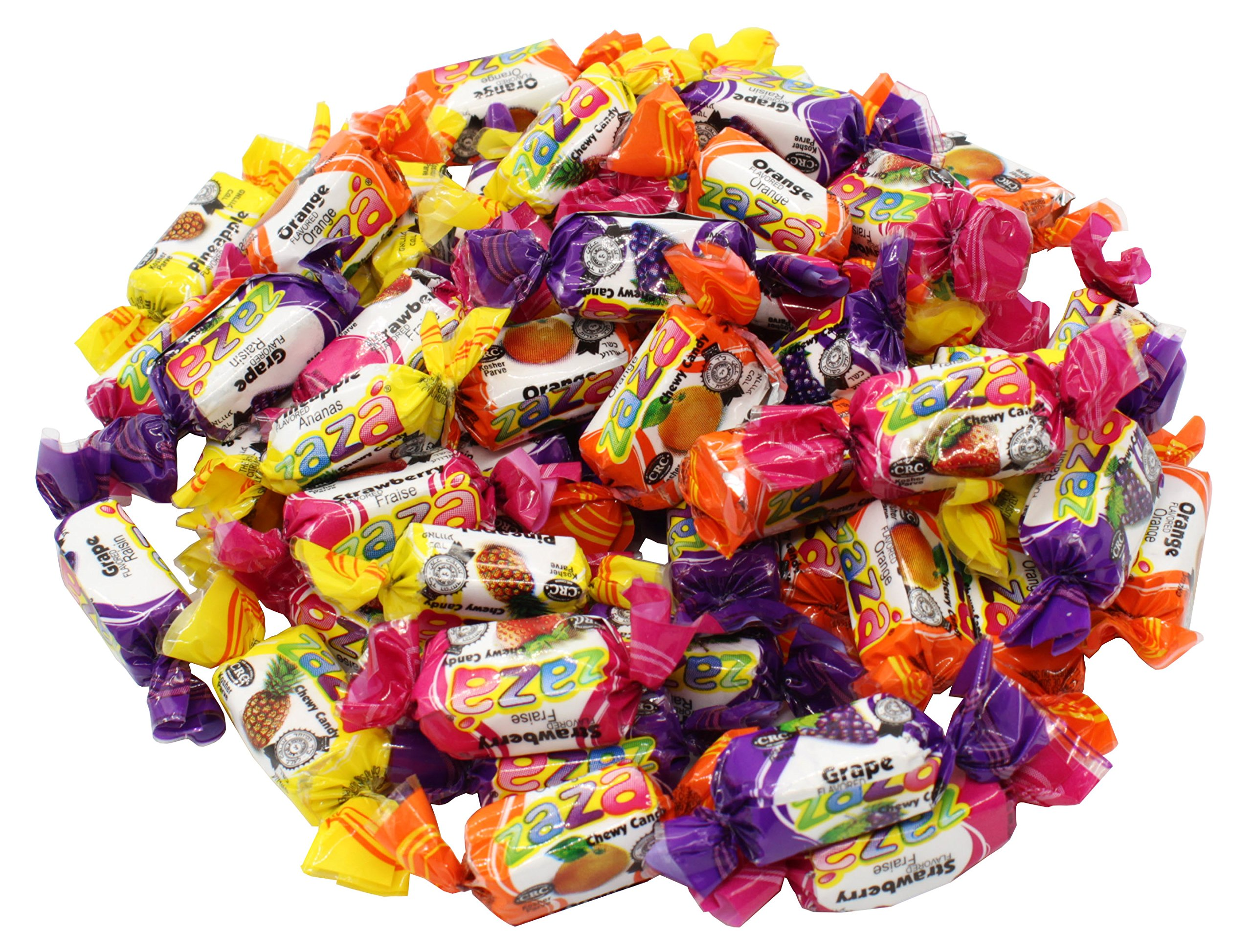 Zaza Assorted Flavors & Colors Fruit Chewy Candy (Bulk Pack)