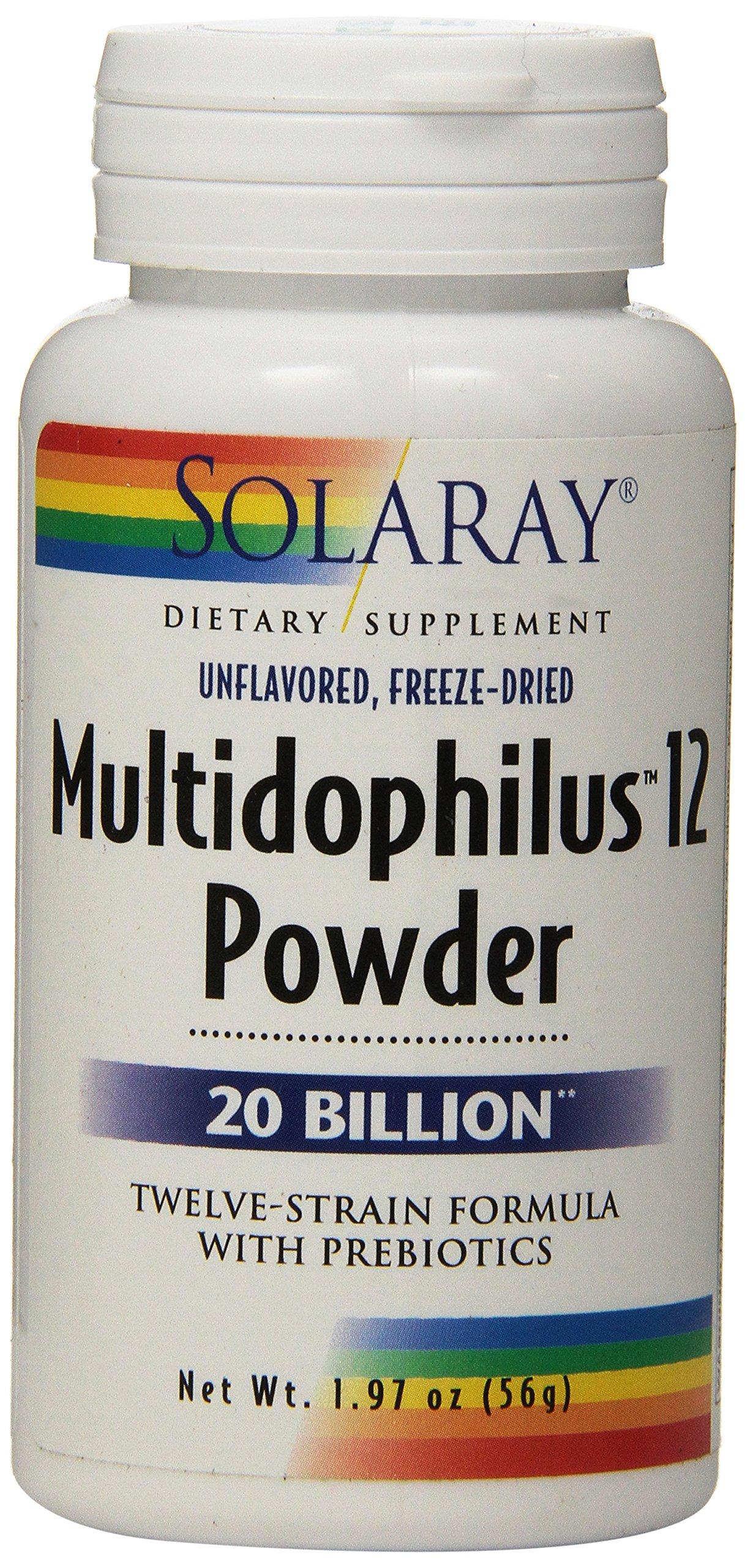 Solaray Multidophilus 12 Powder, 1.97 Ounce
