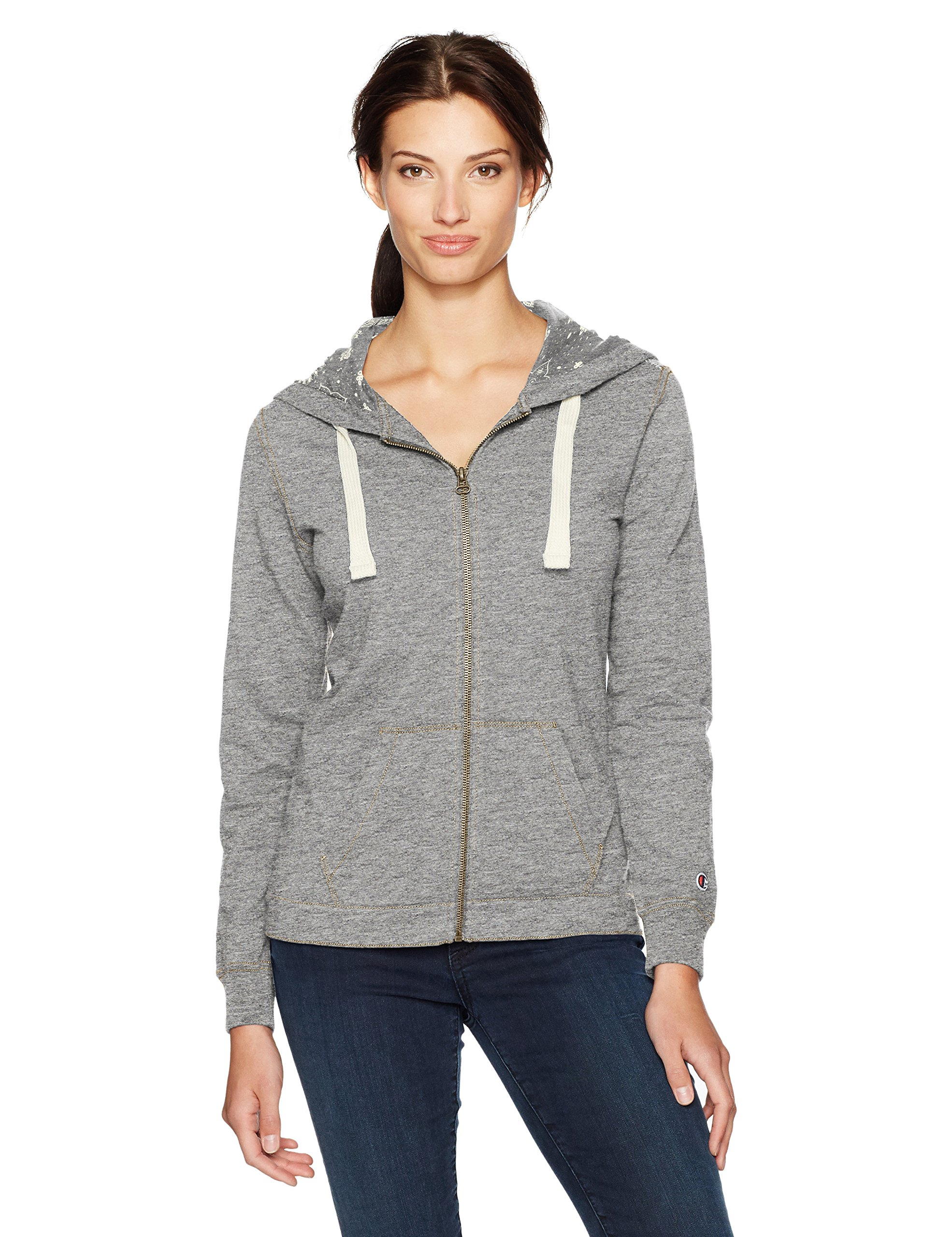 Champion Women's French Terry Full Zip Hoodie (Edition), Light Steel, L by Champion