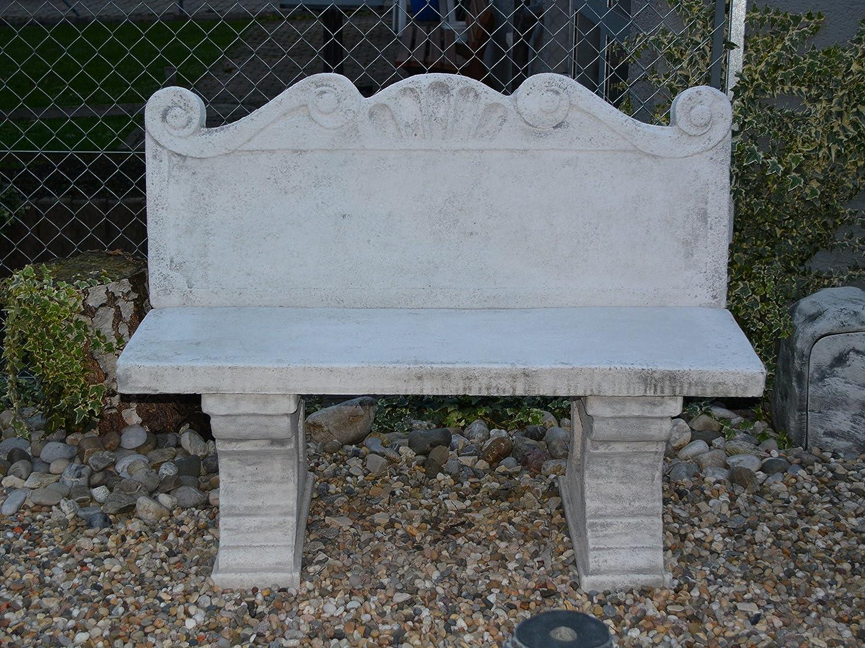 Banco para asiento con respaldo de muebles de jardín de piedra, resistente a las heladas.: Amazon.es: Jardín