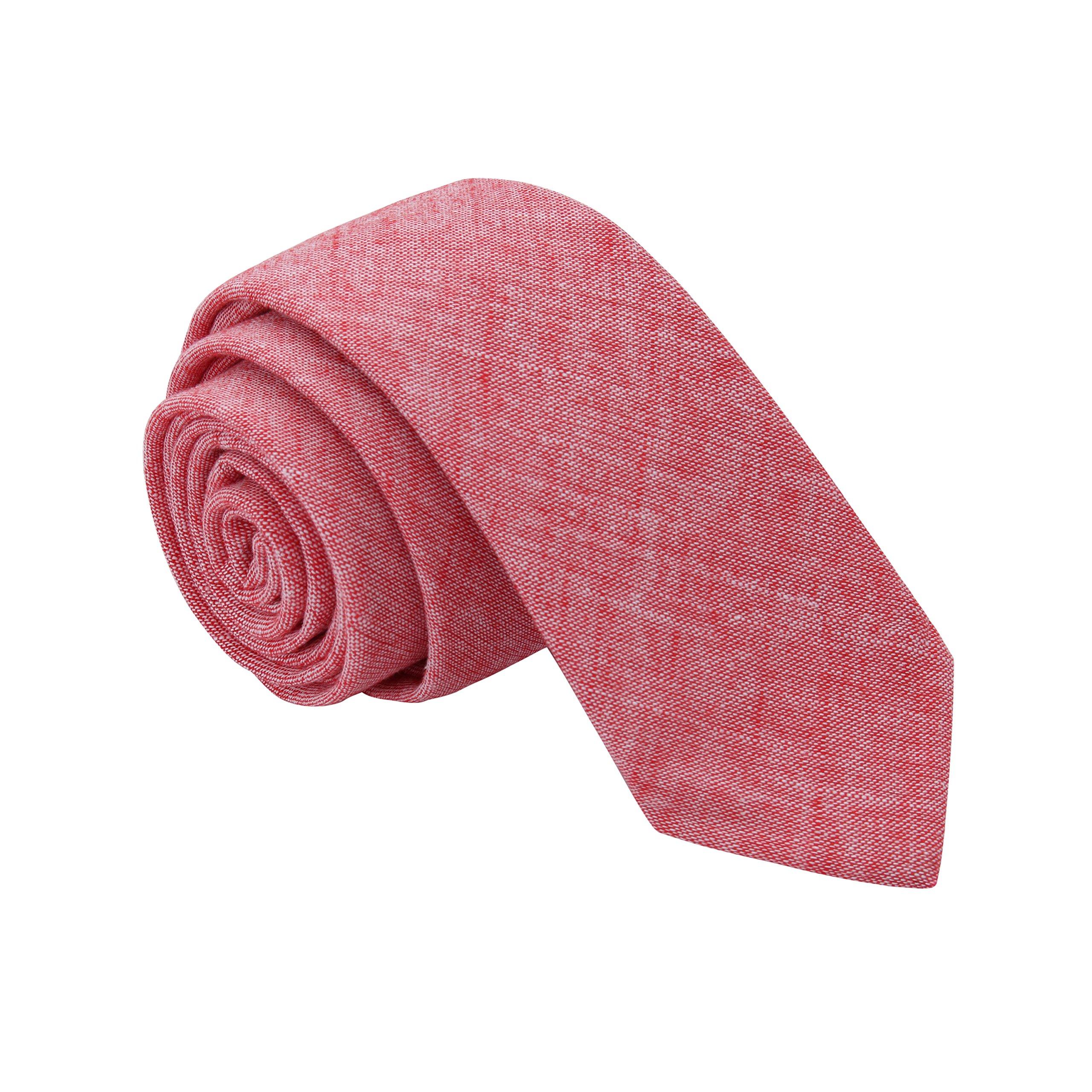 Tsheoul Noted Men's cotton Plain Neck Tie+ Gift Box