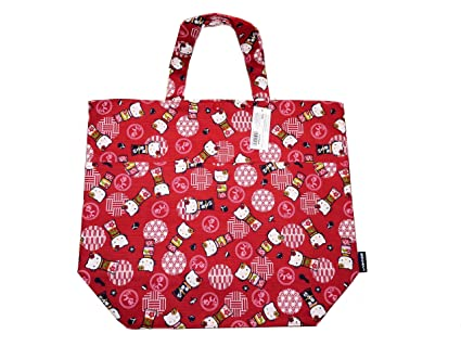 Hello Kitty Shopping Bag Tote Bag L RED Kt By Sanrio  Amazon.in  Toys    Games 11c08e16ee3b1