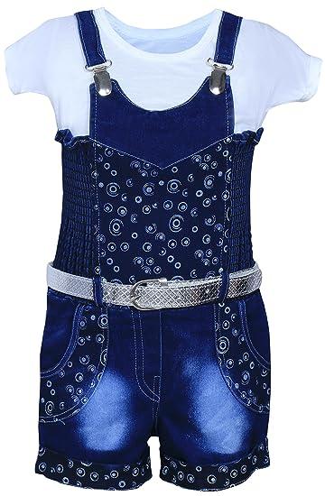 da5f6b91bd81 MPC Cute Fashion Kids Baby Girl Dress Infant Jeans Dungaree Jumpsuit ...