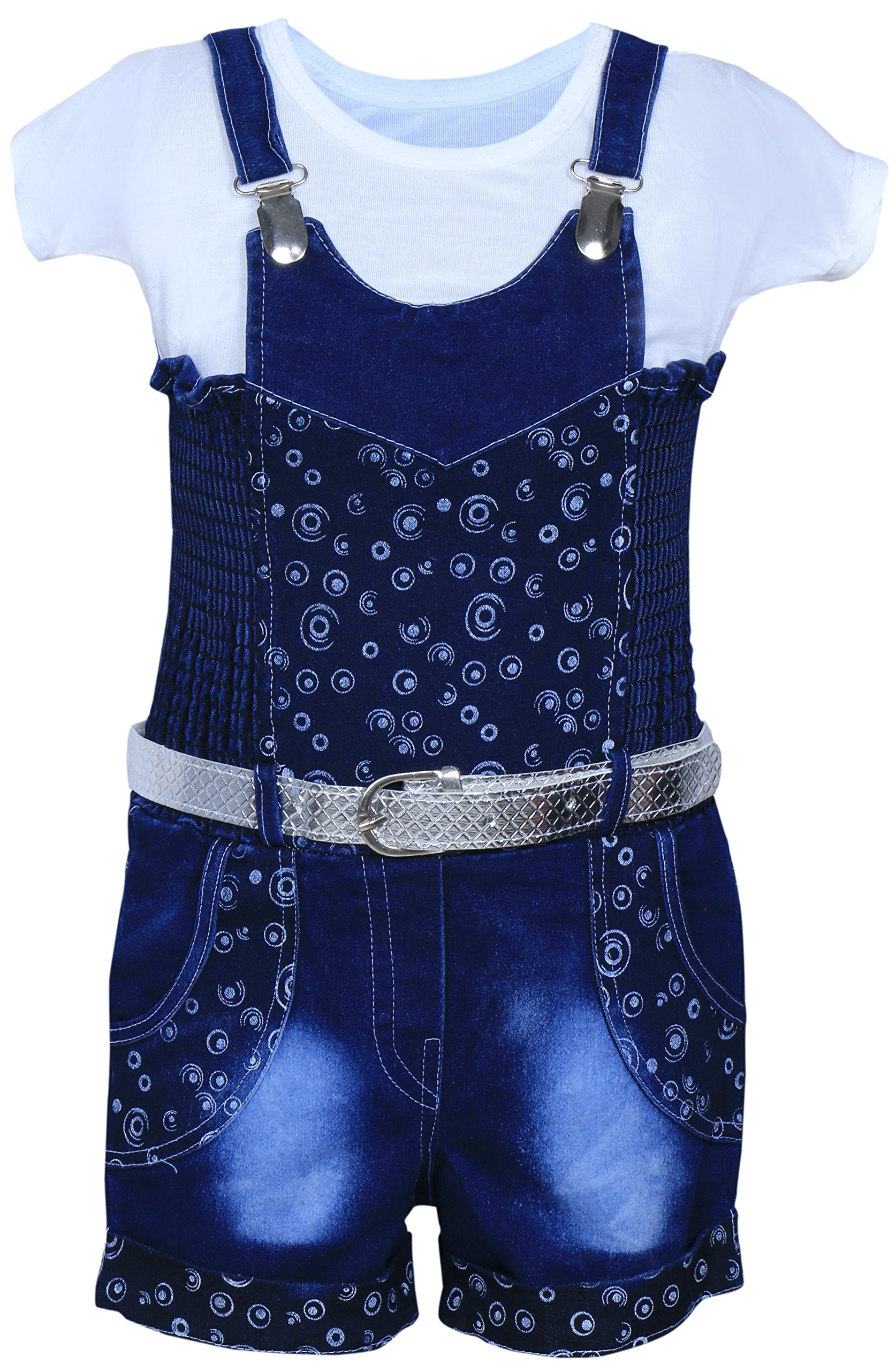 09b2b41d23725 MPC Cute Fashion Baby Girl's Infant Jeans Dungaree Jumpsuit (Blue) product  image