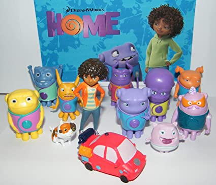 Color Dreamworks Home Mini Figure Toy Play Set Of 13 With Tip Oh Kyle