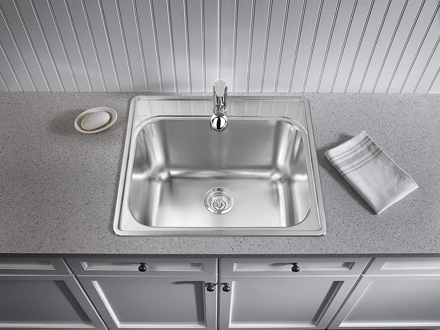 BLANCO 441078 ESSENTIAL Drop-In Laundry Sink, 25 L X 22 W X 12 D, Stainless Steel