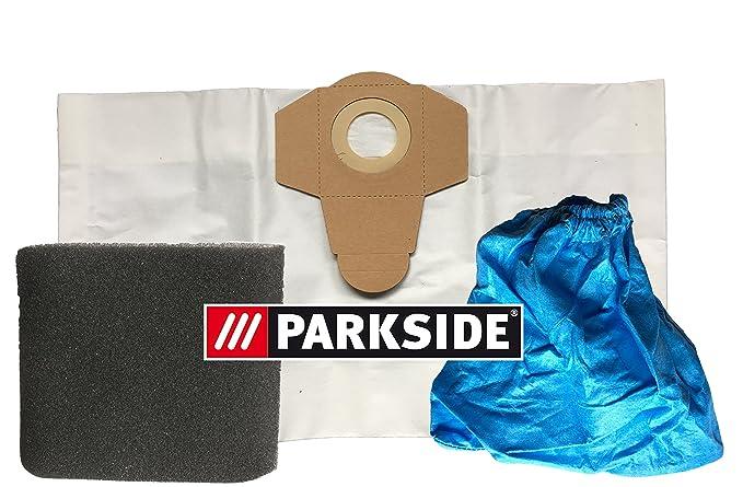 Lot de 3filtres: 1x filtre humide, 1filtre à poussière, 1x Fein–Poussière–Sacs Aspirateur 20L Micro–Non-tissé Pa