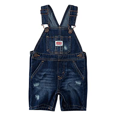 f44e951a6 Amazon.com  Levi s Baby Boys  Denim Shortalls  Clothing