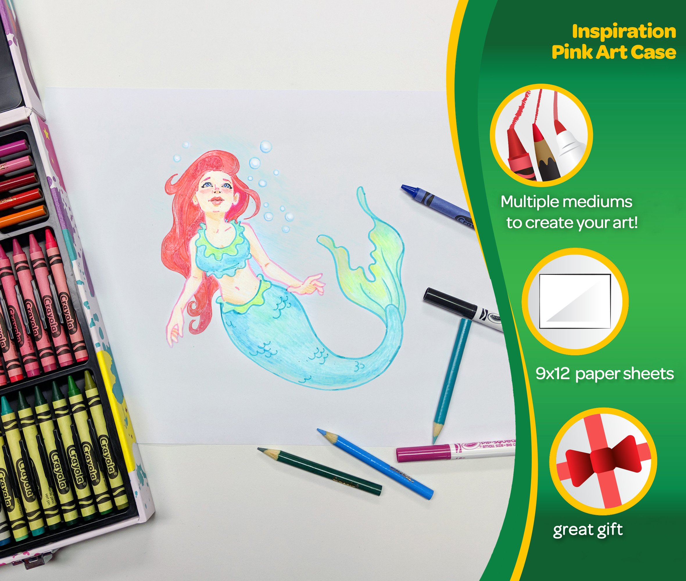 Crayola Inspiration Art Case in Pink, 140 Art & Coloring Supplies, Gift for Girls by Crayola (Image #3)