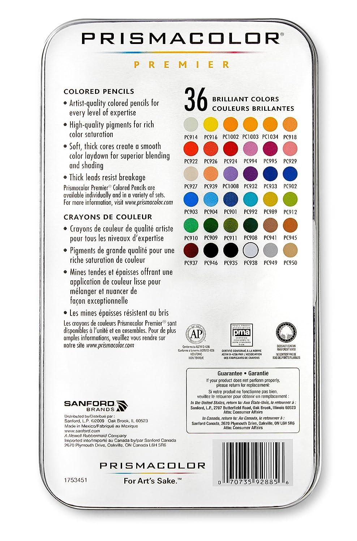 Amazon prismacolor 92885t premier colored pencils soft core amazon prismacolor 92885t premier colored pencils soft core 36 piece office products nvjuhfo Choice Image