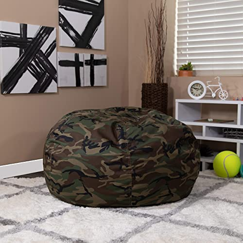 EMMA OLIVER Oversized Camouflage Bean Bag Chair