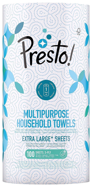 Presto Multi-Purpose Household Paper Towels Presto! 5400606000315
