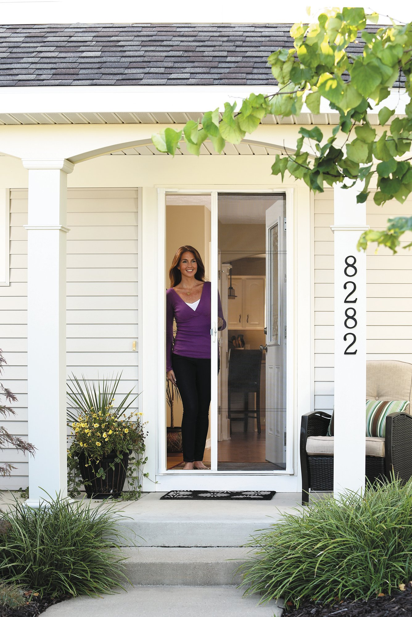 ODL Brisa Premium Retractable Screen for 78 in. Inswing/Outswing Hinged Doors - Bronze by ODL (Image #2)