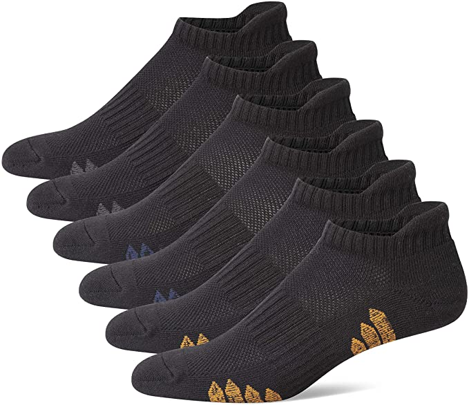 Mens Cotton Low Cut Cushion Sole Ankle Sports Socks
