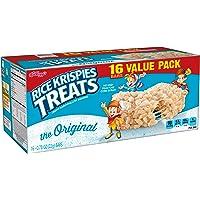 Kellogg's Rice Krispies Treats, Crispy Marshmallow Squares, Original, Value Pack, 0.78 oz Bars?(16 Count)