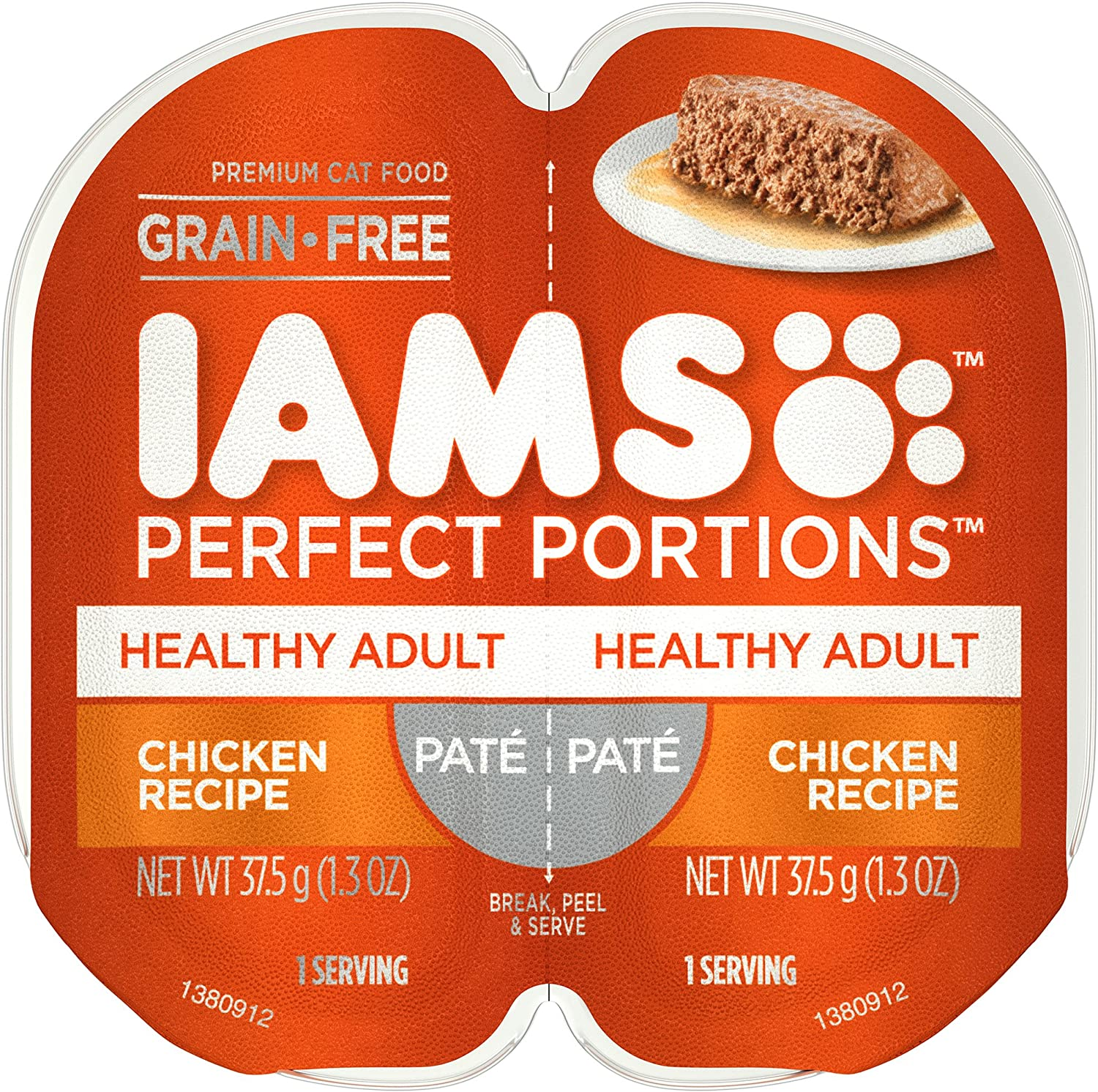 Iams Perfect Portions Healthy Adult Grain Free Wet Cat Food, Pate (24 Twin Packs)