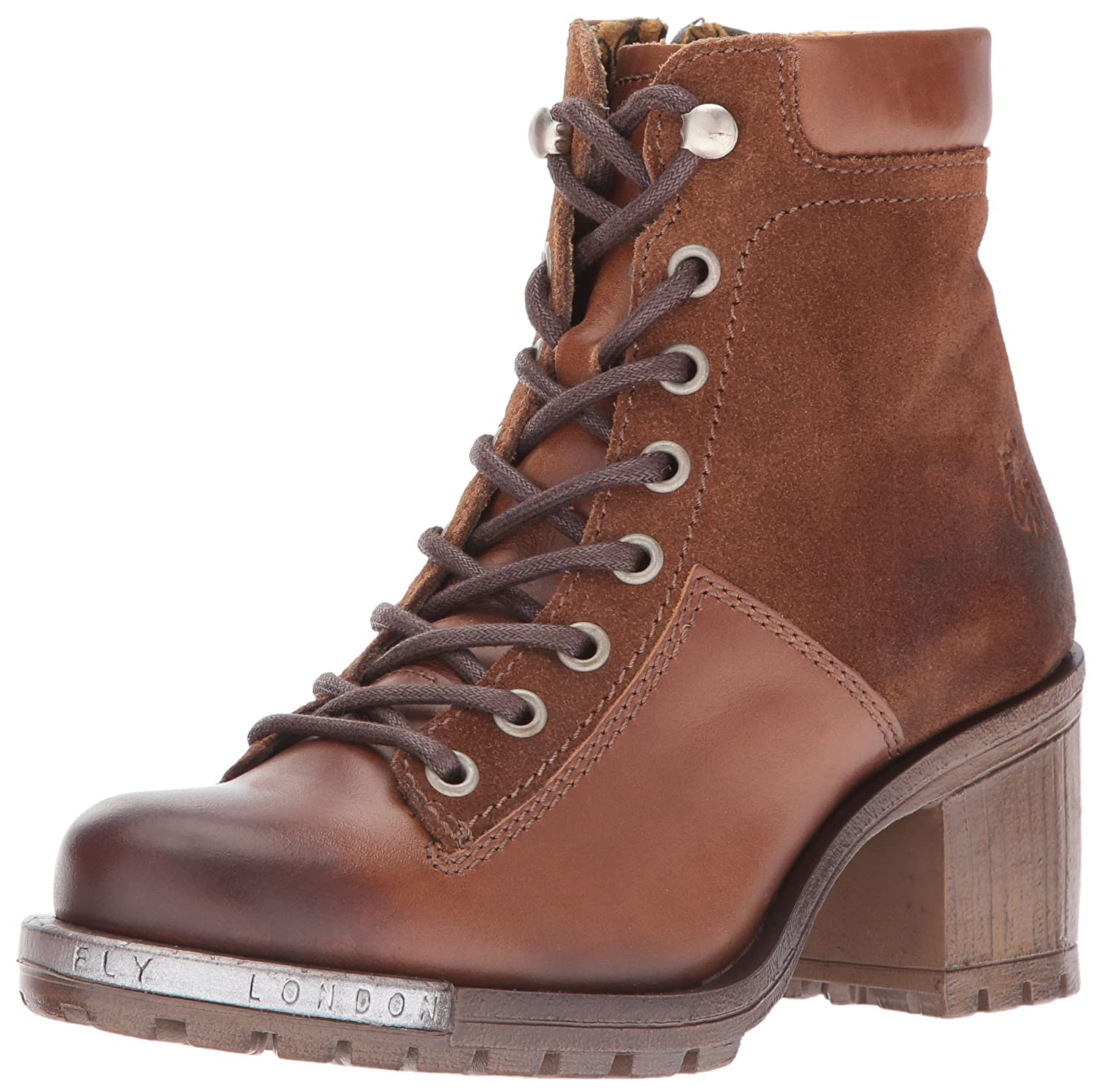 FLY London Women's Leal689fly Combat Boot B01DBXFU3O 37 EU/6.5-7 M US|Camel/Camel Oil Suede/Rug