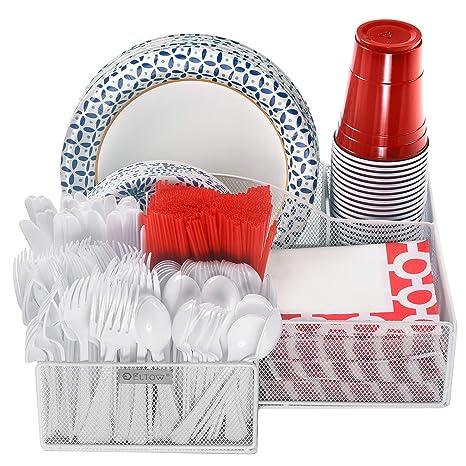 Amazon.com: Eltow - Organizador de platos y cubiertos ...