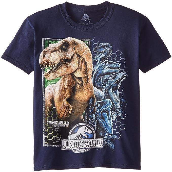 0b5bf839 Jurassic World Big Boys' Short Sleeve T-Shirt Shirt, Navy, Medium /