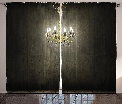 Ambesonne Grunge Curtains