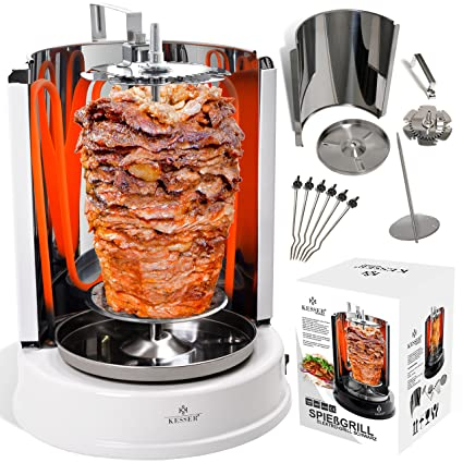 Kesser® - Parrilla para kebab de 1400 W, rotatorio, para ...