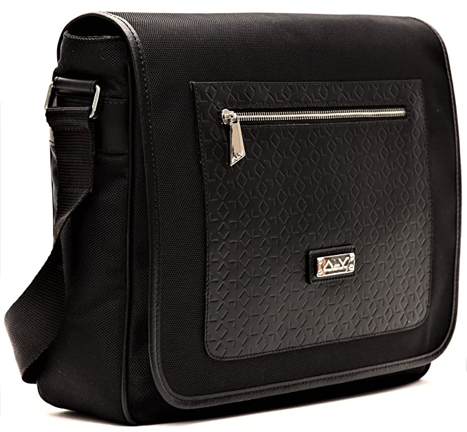 Borsa Tracolla Unisex Nero Alviero Martini Bag Messenger Unisex Black