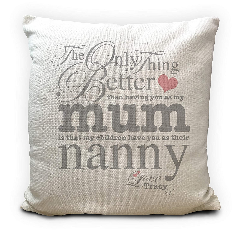 16 Inch Cushion Cover Nanny Nan Grandma MDC01 Mothers Day Personalised Gift