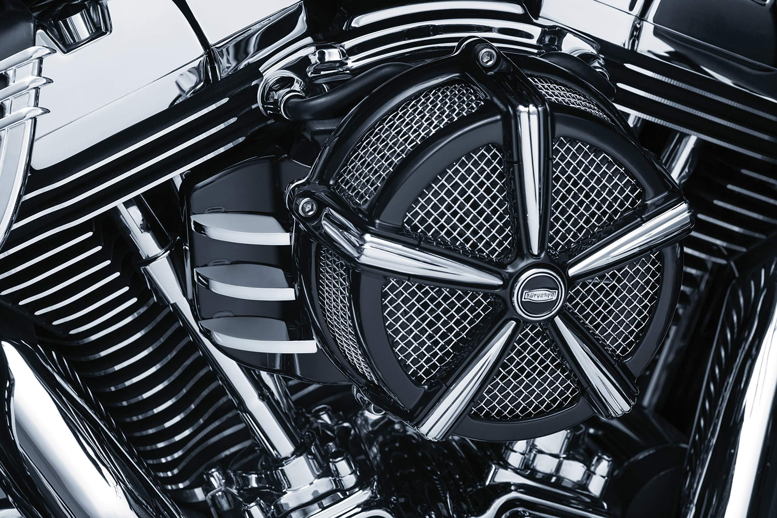 Kuryakyn 5686 Black & Chrome Motorcycle Accent