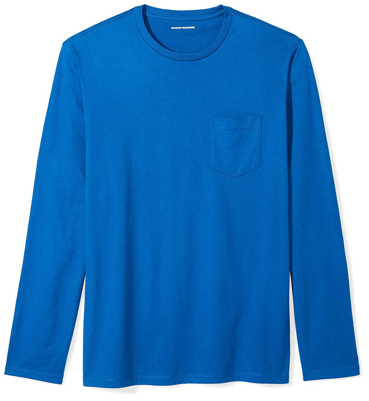 Amazon Essentials Men's Slim-Fit Long-Sleeve Pocket T-Shirt MAE45003SP18