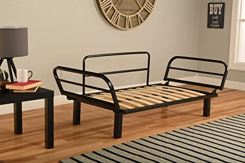 Best Futon Lounger – Frame ONLY – Sit Lounge Sleep – Small Furniture for College Dorm, Bedroom Studio Apartment Guest Room Covered Patio Porch