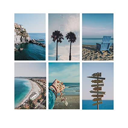 Set Of 6 Unique Posters Beach Pictures Wall Art For Home Decoration