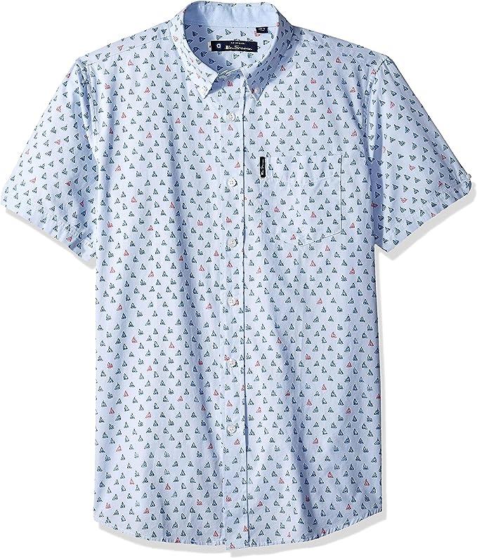 Ben Sherman Ss Sailboat - Camisa para hombre: Amazon.es: Ropa y accesorios